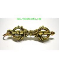 จี้วัชระ (แบบธิเบต) บูชาเพื่อคุ้มกันภัย ทำลายอำนาจและสิ่งไม่ดี :เนื้อทองเหลือง ขนาด 3.5 ซม.