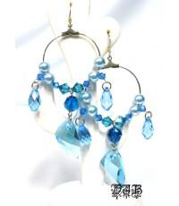 PJB EARRING Swarovski crystal Thai Design