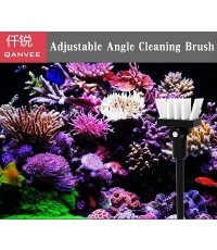 Qanvee MS-3 Adjustable Angle Cleaning Brush แปรงทำความสะอาดตู้ปลา หัวปรับองศาได้