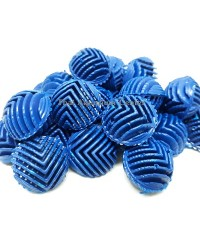 Mini Bioball ไบโอบอลลูกเล็ก สีน้ำเงิน 100 ลูก สำหรับช่องกรองน้ำขนาดเล็ก, กรองในตู้, กรองบนตู้