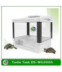 Turtle Tank DS-WG300A ตู้เลี้ยงเต่า ตะพาบ สัตว์ครึ่งบกครึ่งน้ำ อุปกรณ์ครบชุด ระบบกรองน้ำพร้อมไฟ LED