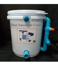 ถังกรองน้ำสำหรับบ่อปลา ขนาด 10 ลิตร สีขาว สำหรับบ่อปลา ขนาด 100-500 ลิตร