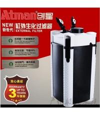 ATMAN AT-3338S ระบบกรองน้ำตู้ปลา แบบกรองนอกสำหรับตู้ขนาด 36-60 นิ้ว รุ่นใหม่ล่าสุด