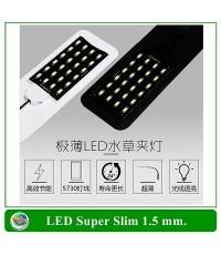 LED Super Slim โคมไฟLED สำหรับตู้ปลาขนาดเล็ก สีดำ