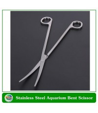 SUNSUN กรรไกรตัดแต่งไม้น้ำ ปลายโค้ง ยาว 27 ซม. Stainless Steel Aquarium Bent Scissor