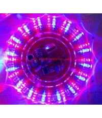 ไฟดีสโก้ทรงจานบิน (UFO) ตัวจานบินทำจากโครงพลาสติก