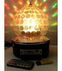 ไฟดีสโก้โคมเห็ด 6 สี RBG (LED MP3+Remote)รองรับUSB,SDcard