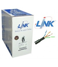 US-9045 LINK UTP CAT5e 245AWG Outdoor Black Double Jacket, 305m.
