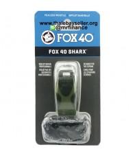 นกหวีด Fox40 SHARX + LANYARD 120 dB สีเขียวลายพราง ของใหม่ ของแท้