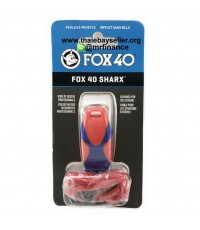 นกหวีด Fox40 SHARX + LANYARD 120 dB สีแดงน้ำเงิน  ของใหม่ ของแท้