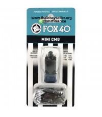 นกหวีด Fox40 Mini CMG + LANYARD 109 dB สีดำ ของใหม่ ของแท้