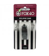 นกหวีด FOX 40 ECLIPSE มียางครอบปาก(CMG) ไม่มีสายคล้องคอ 115dB (สีดำ) ของแท้ ของใหม่