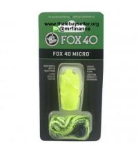 นกหวีด FOX 40 Micro + สายคล้องคอ 110dB (สีเขียวนีออน) ของแท้ ของใหม่