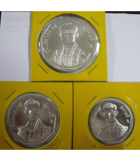 เหรียญที่ระลึกรัชมังคลาภิเษก ปี 2531 เนื้อเงินครบชุด ใหญ่ กลาง เล็ก สภาพสวย หายาก