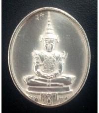 เหรียญเงินพระแก้วมรกตทรงเครื่องฤดูร้อน ภปร. ฉลอง 200 ปีกรุงเทพฯ รุ่นแรก ปี2525 สภาพสวย พิธีใหญ่
