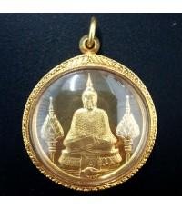 เหรียญพระแก้วมรกต ทรงเครื่องฤดูหนาว รุ่นแรก 200 ปีกรุงรัตนโกสินทร์ สุดสวย หายาก เลี่ยมทอง