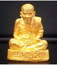 รูปหล่อลอยองค์หลวงปู่ทวด วัดช้างให้ เนื้อทองคำ No.38 เลขเดียวกับปีที่สร้างสร้างโดยค่ายเสนาณรงค์