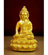 พระกริ่งญาณปวเรศ (ปวเรศน้อย) เนื้อทองคำ พิมพ์เล็ก ฉลองมงคลศตวรรษ สมเด็จญาณฯ วัดบวรนิเวศ ครบชุด กล่อง