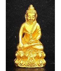 พระชัยวัฒน์นวปทุม ภปร. ปี2535 เนื้อทองคำ พิธีใหญ่ ในหลวงเสด็จเททอง สภาพสวยพร้อมกล่อง หายากครับ