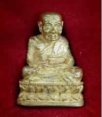 รูปหล่อหลวงปู่ทวด เนื้อทองคำ รุ่นสร้างเจดีย์ ปี2533 น้ำหนัก 11.5กรัม สภาพสวยเดิมๆพร้อมกล่อง หายากมาก