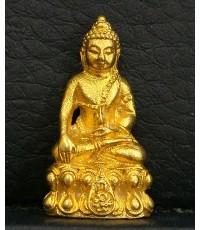 พระชัยวัฒน์นวปทุม ภปร.  วัดปทุมวนาราม ปี2535 เนื้อทองคำ นน. 8.1 กรัม นิยมมาก หายาก สร้างตามสั่งจอง