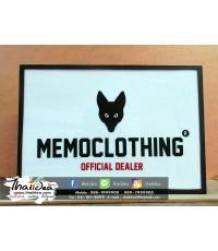 MemoClothing : ป้ายกล่องซิงค์ หน้าอะคริลิค