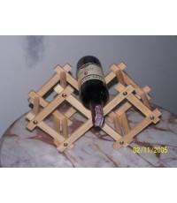 WINE009 - ชั้นวางไวน์ 3 ขวด พับได้
