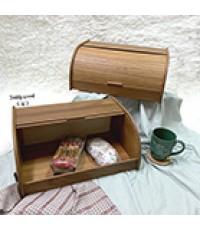 กล่องขนมปังไม้สัก