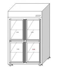ตู้แช่ยืน 2+2 ประตู ฝาทึบ ระบบเดินท่อความเย็น