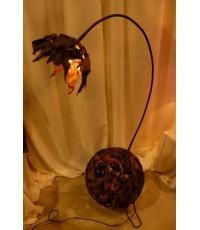 โคมไฟจากกะลามะพร้าว