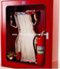 ตู้เก็บสายดับเพลิงแบบ Hose Rack  พร้อมอุปกรณ์ภายในตู้ 9 รายการ