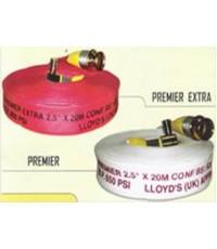 สายน้ำดับเพลิงชนิดผ้าใบโพลีเอสเตอร์เคลือบยางสังเคราะห์ภายใน  ยี่ห้อ Premier รุ่น Extra