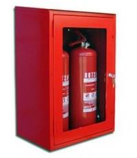 ตู้เก็บถังดับเพลิงแบบถังคู่แบบแขวนลอยขนาด 60x70x20 cm.กระจกธรรมดา