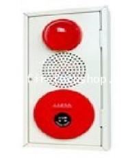 ตู้รวมอุปกรณ์แจ้งเหตุด้วยมือ+กระดิ่ง+ไฟแสดงตำแหน่ง+Jack Tel.ชนิดติดลอยรุ่น CM-PBL1 ยี่ห้อ CM