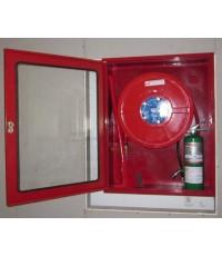 ตู้เก็บสาย Hose Reel และถังดับเพลิงแบบฝังขนาด 1300x900x400 mm.(เฉพาะตู้)