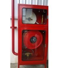 ตู้เก็บสายส่งน้ำแบบ 2 ชั้นพร้อมขาตั้ง 90x180x35 cm.