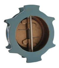 NIBCO KW-900-W Duo check valve, wafer type, ductile iron body, UL./FM or 250 psi., w.p. ANSI 150