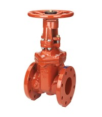 NIBCO OSY Gate valve model F-607-RW, ductile iron body, UL/FM, 250 psi.