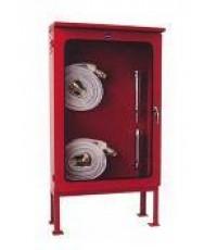 ตู้เก็บสายดับเพลิง 2 ม้วนภายนอกอาคารขนาด 90x120x30 ซม.ขาสูง 30 ซม.กระจกเซฟตี้ เหล็กเบอร์ 18