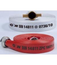 สายดับเพลิง ผ้าใบ/ยางสังเคราะห์ รุ่น Syntex-500 ยี่ห้อ OSW ,Germany มาตรฐาน DIN 14811 : BS6391