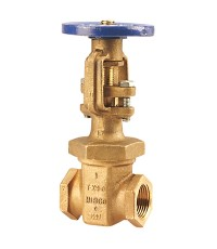 NIBCO T-104-0 OS  Y Gate Valve Bronze body, threaded NPT ends, UL/FM approved or 175 psi., W.P.