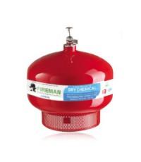 ถังดับเพลิงทำงานเองอัตโนมัติชนิดผงเคมีแห้งแบบแขวนเพดาน 10 ปอห์น ยี่ห้อ FireMan