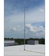 เสาเหล็กชุปกัลวาไนซ์พร้อมสลิง 8 เส้น สูง 20 เมตร สำหรับงานหัวล่อฟ้า