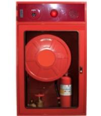 ตู้เก็บสายส่งน้ำดับเพลิงโฮสรีลพร้อมระบบไฟร์อลาร์ม 80x135x35 ขาสูง 30 cm.ในอาคาร(ไม่รวมอุปกรณ์)