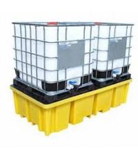 ถาดรองสารเคมีรั่วไหลสำหรับถัง IBC ขนาด 1000 ลิตรสองถัง รุ่น BB2FW ยี่ห้อ ROMOLD