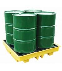 พาเลทสำหรับรองถัง 200 ลิตร x 4 ถังกันสารเคมีรั่วไหล รุ่น ฺBP4L ยี่ห้อ ROMOLD