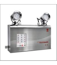 โคมไฟฉุกเฉินกันน้ำ IP65 ตัวถังสแตนเลส LED 2x9W.,สำรองไฟ 3 ชม.รุ่น MCU 209ST3 ยี่ห้อ Sunny