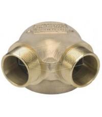 หัวจ่ายน้ำดับเพลิง 90\' degree ทองเหลือง 6x2.5x2.5 นิ้ว มาตรฐาน UL รุ่น 26-296 ยี่ห้อ DIXON-POWHATAN