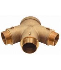 หัวจ่ายน้ำดับเพลิง Y-Type ทองเหลือง 4x2.5x2.5x2.5 นิ้ว มาตรฐาน UL รุ่น 26-295 ยี่ห้อ DIXON-POWHATAN
