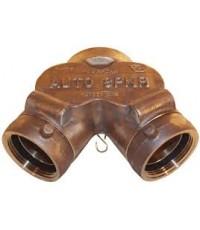 หัวรับน้ำดับเพลิงทองเหลือง Y-Type ขนาด 6x2.5x2.5 นิ้ว มาตรฐาน UL รุ่น 21-132 ยี่ห้อ DIXON-POWHATAN